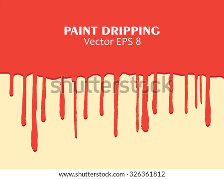 Paint dripping.Paint drips background.Vector illustration.
