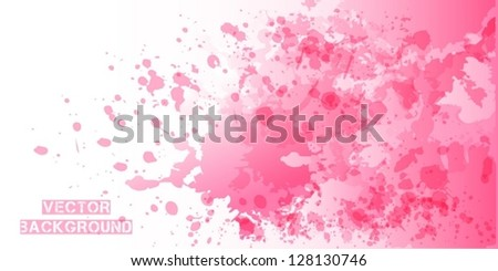 Paint Splash Background - stock vector