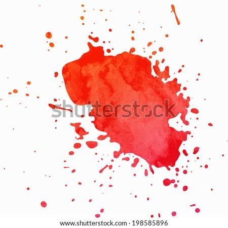 Paint Splash with Grunge Texture - stock vector