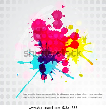 Paint splat background series - stock vector