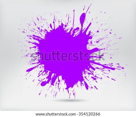 Paint splat banner.Splash banner.Vector illustration. - stock vector