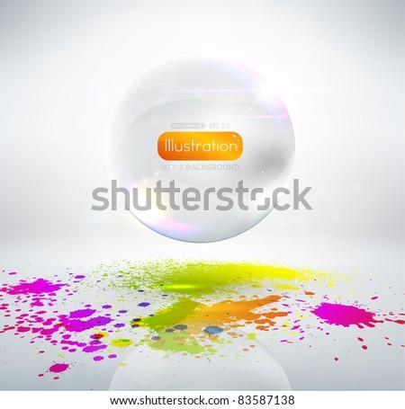 Paint splats - stock vector