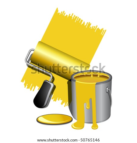Paint tools - stock vector