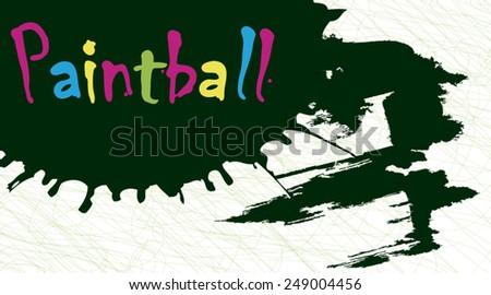 Paintball splash - stock vector