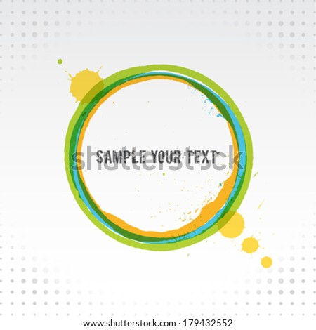 Painted Grunge Circle Background - stock vector