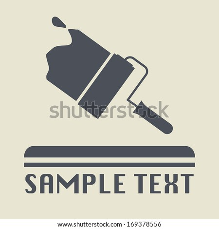 Painter icon or sign, vector illustration - stock vector