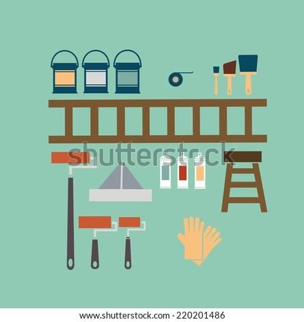 Painter illustration - stock vector