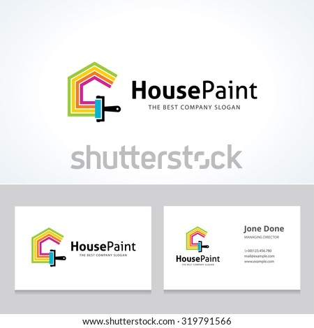 Painters choice,house paint,repair,painting services,painting logo,home,house,Business card,House renovation,Vector logo template - stock vector
