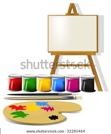 Painting accessories. - stock vector