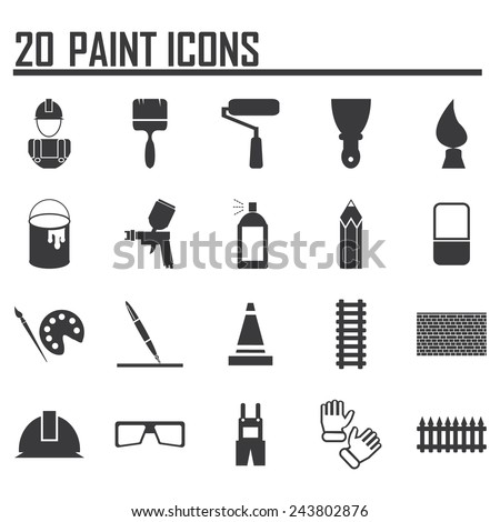 Painting Icons - stock vector