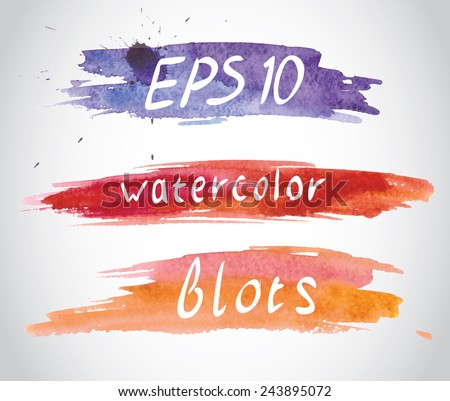 Painting smears for text, daub  - stock vector