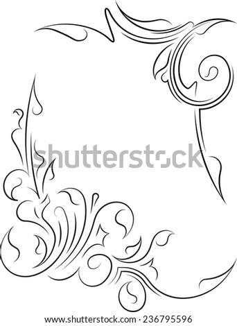 Pair of decorative corners - stock vector