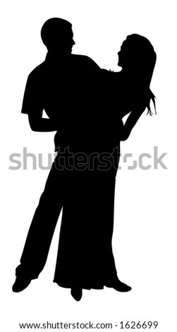 Pair of lovers - stock vector