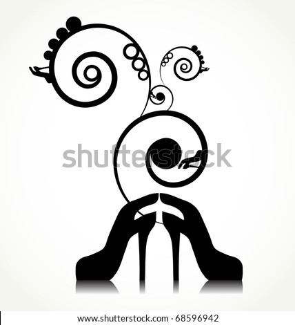 pair of shoes with design - stock vector