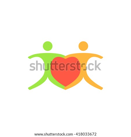 Pair Simple flat vector icon - stock vector