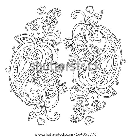 Paisley. Ethnic ornament. Vector illustration isolated. - stock vector