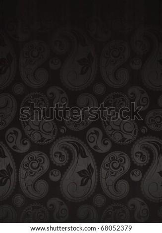 Paisley Flower Pattern Seamless - stock vector