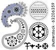Paisley patterns and other vintage design elements (vector) - stock vector