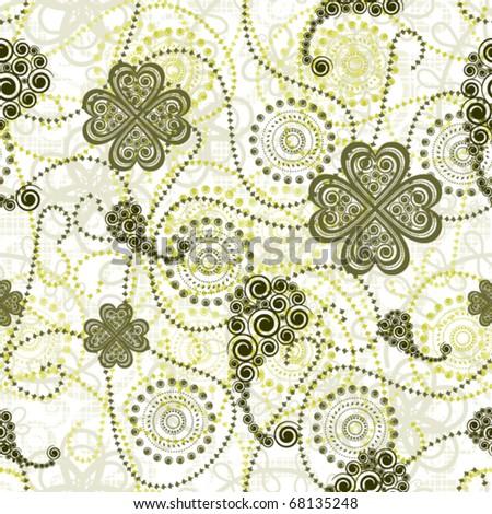 paisley seamless pattern - stock vector