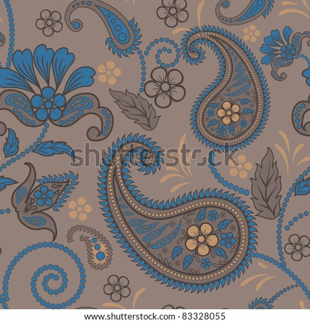 Paisley seamless pattern - stock vector