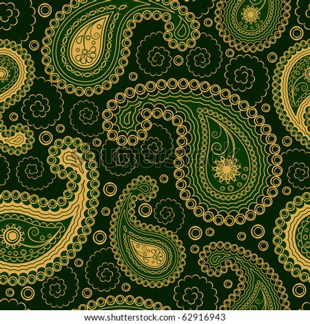 Paisley style seamless ornament - stock vector