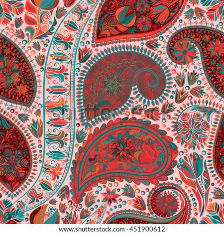 vintage floral motif ethnic seamless background stock vector 299215268 shutterstock. Black Bedroom Furniture Sets. Home Design Ideas