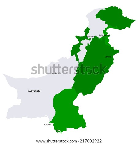 Pakistan map countries