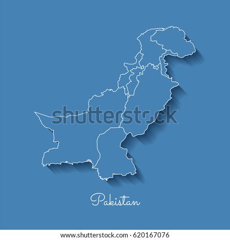 Pakistan Map On White Background Stock Vector More Images Of
