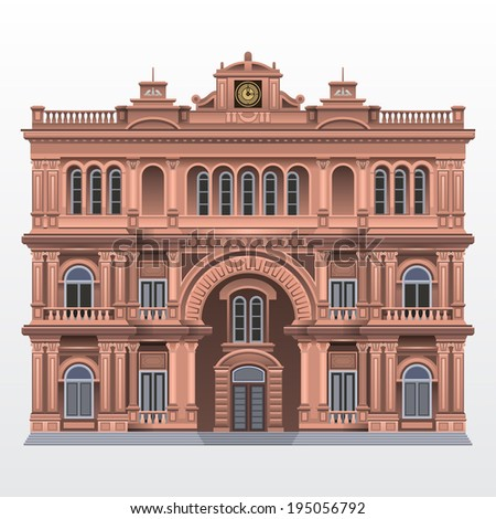 Palace . Vector illustration eps 10 - stock vector