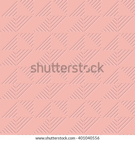 pale rose color light 3d geometric pattern  - stock vector