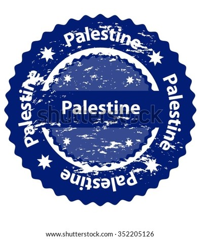Palestine Country Grunge Stamp - stock vector