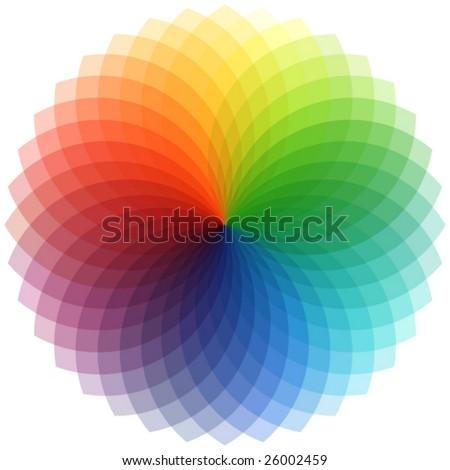 palette in vector - stock vector