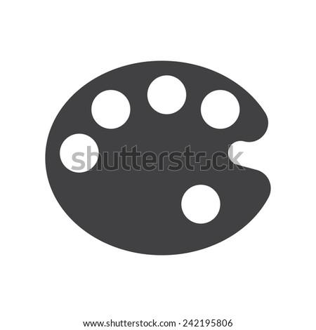 Palette, modern flat icon - stock vector