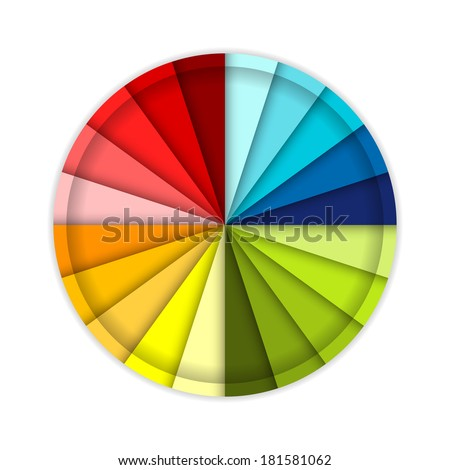 Palette of color wheel, for your design - stock vector