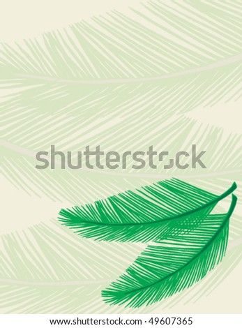 Palm leaves scattered around - with plenty of room for your own copy. - stock vector