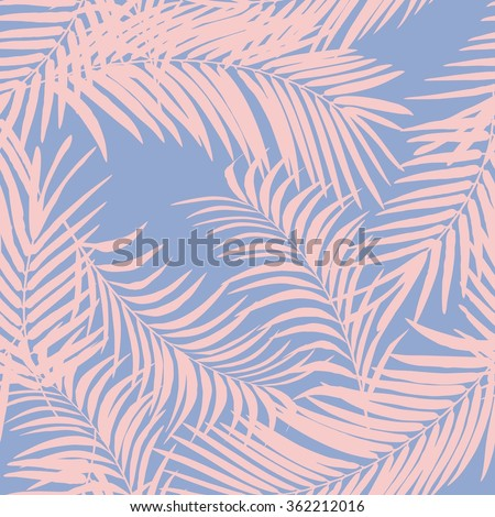 palm pattern - stock vector