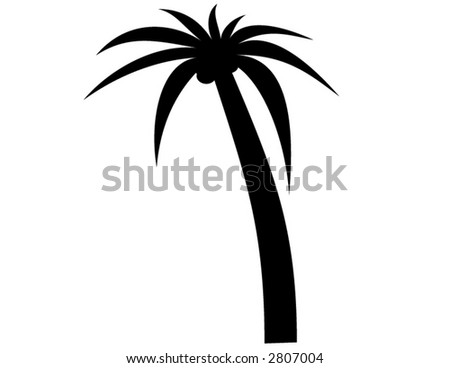 Palm silhouette in vector format. Will size anywhere to any pixels without losing quality - stock vector