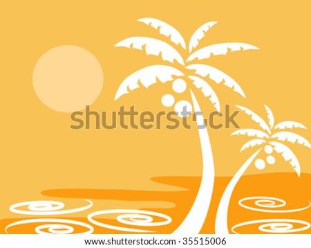 palm tree - stock vector
