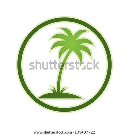 Palm tree icon, vector. - stock vector