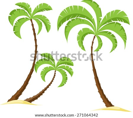 palm tree isolated on white background - vector illustration - stock vector