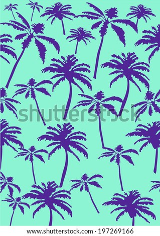 Palm tree pattern - stock vector