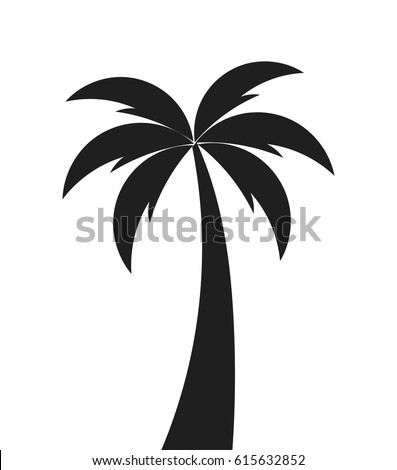 palm tree shape icon vector illustration stock vector 615632852 rh shutterstock com palm vector cagoule palm vector ladies