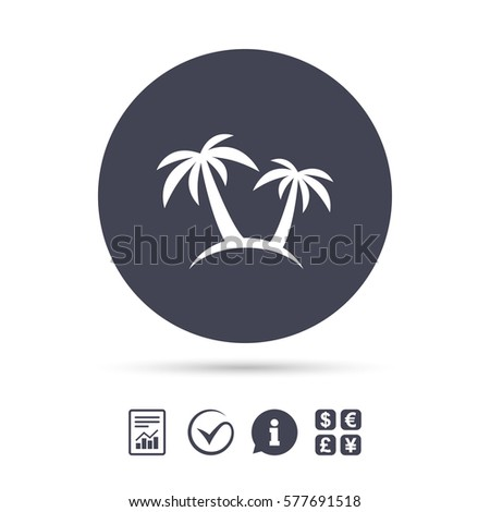 Palm Tree Sign Icon Travel Trip Stock Vector 577691518 Shutterstock