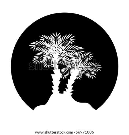 Palm tree. Vector illustration - stock vector