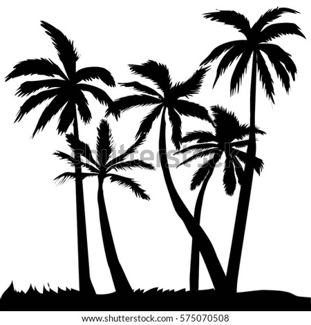 palm tree vector illustration stock vector 2018 575070508 rh shutterstock com palm tree leaf vector art palm tree vector art free download