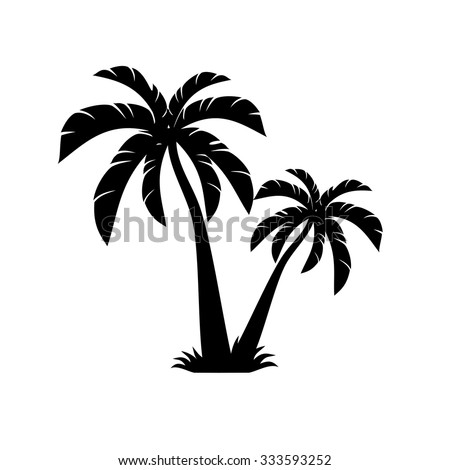 palm trees vector  - stock vector
