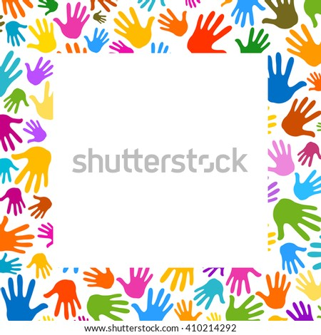 palms hands frame illustration background