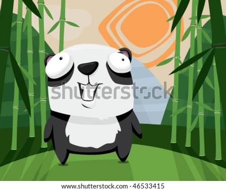 Panda. - stock vector