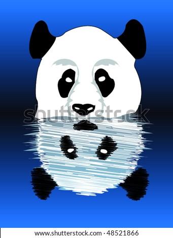 Panda - stock vector