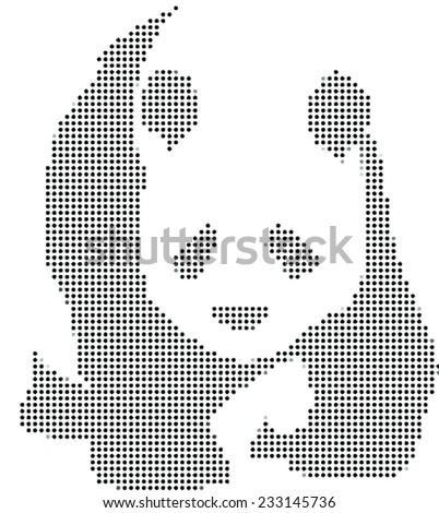 Panda bear vector illustration - stock vector